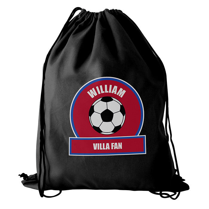 Personalised Claret & Blue Football Fan Boys Kit Bag - Personalised Gift Solutions - 2