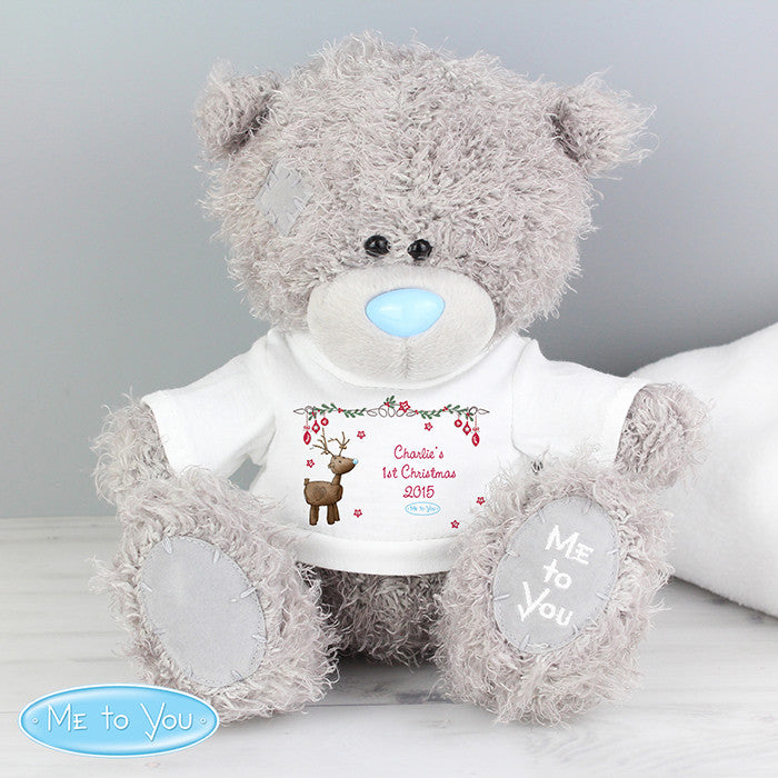 Personalised Me To You Bear with Reindeer T-Shirt