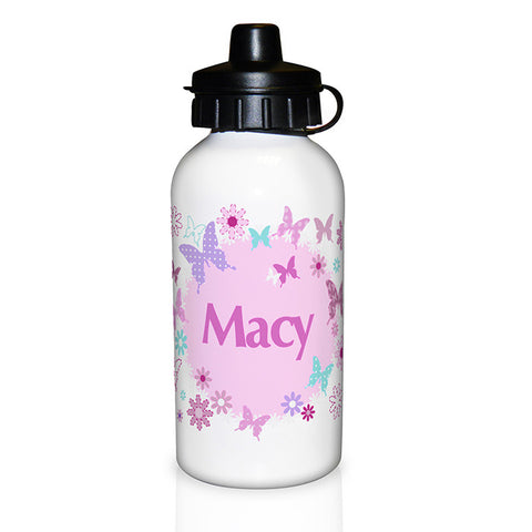Personalised Girls Butterfly Drinks Bottle