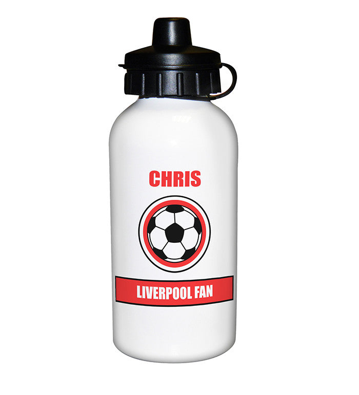 Personalised Red Football Fan Drinks Bottle - Personalised Gift Solutions - 2