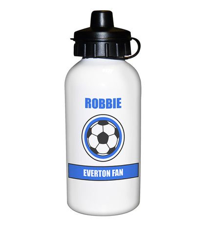Personalised Blue Football Fan Drinks Bottle