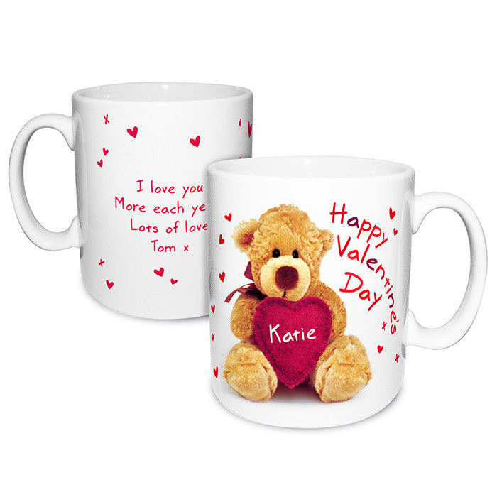Personalised 'Teddy Heart' Valentines Mug - Personalised Gift Solutions - 1