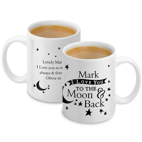 Personalised 'To the Moon and Back' Mug