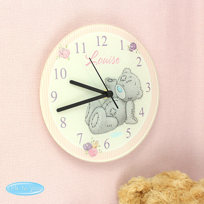 Personalised Me To You Glass Clock - Personalised Gift Solutions - 1