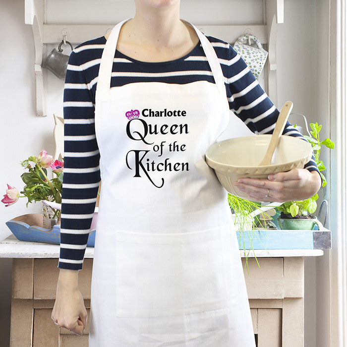 Personalised Queen of the Kitchen Apron - Personalised Gift Solutions - 1