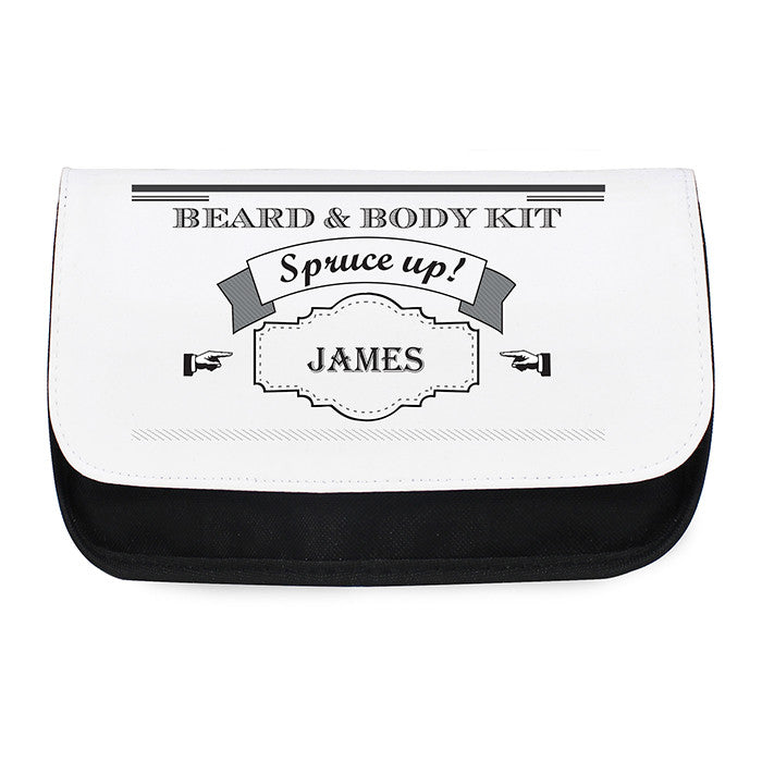 Personalised Spruce Up Wash Bag For Him - Personalised Gift Solutions - 1