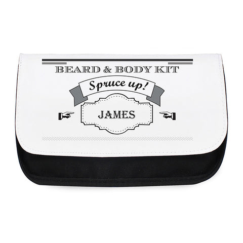 Personalised Spruce Up Wash Bag For Him