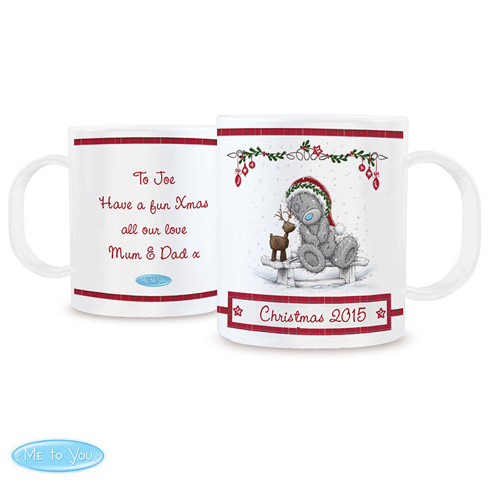 Personalised Me To You Plastic Reindeer Mug - Personalised Gift Solutions - 4
