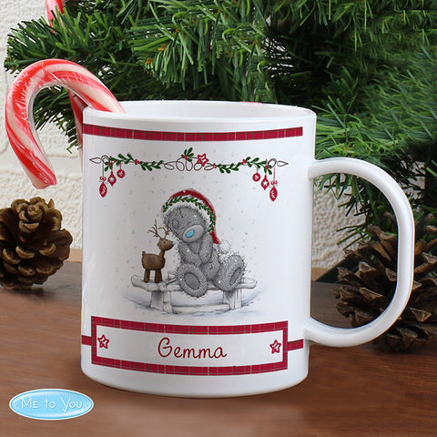 Personalised Me To You Plastic Reindeer Mug