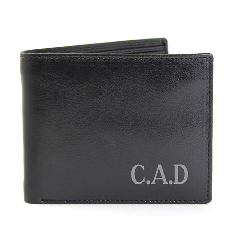 Personalised Leather Wallet with Initials