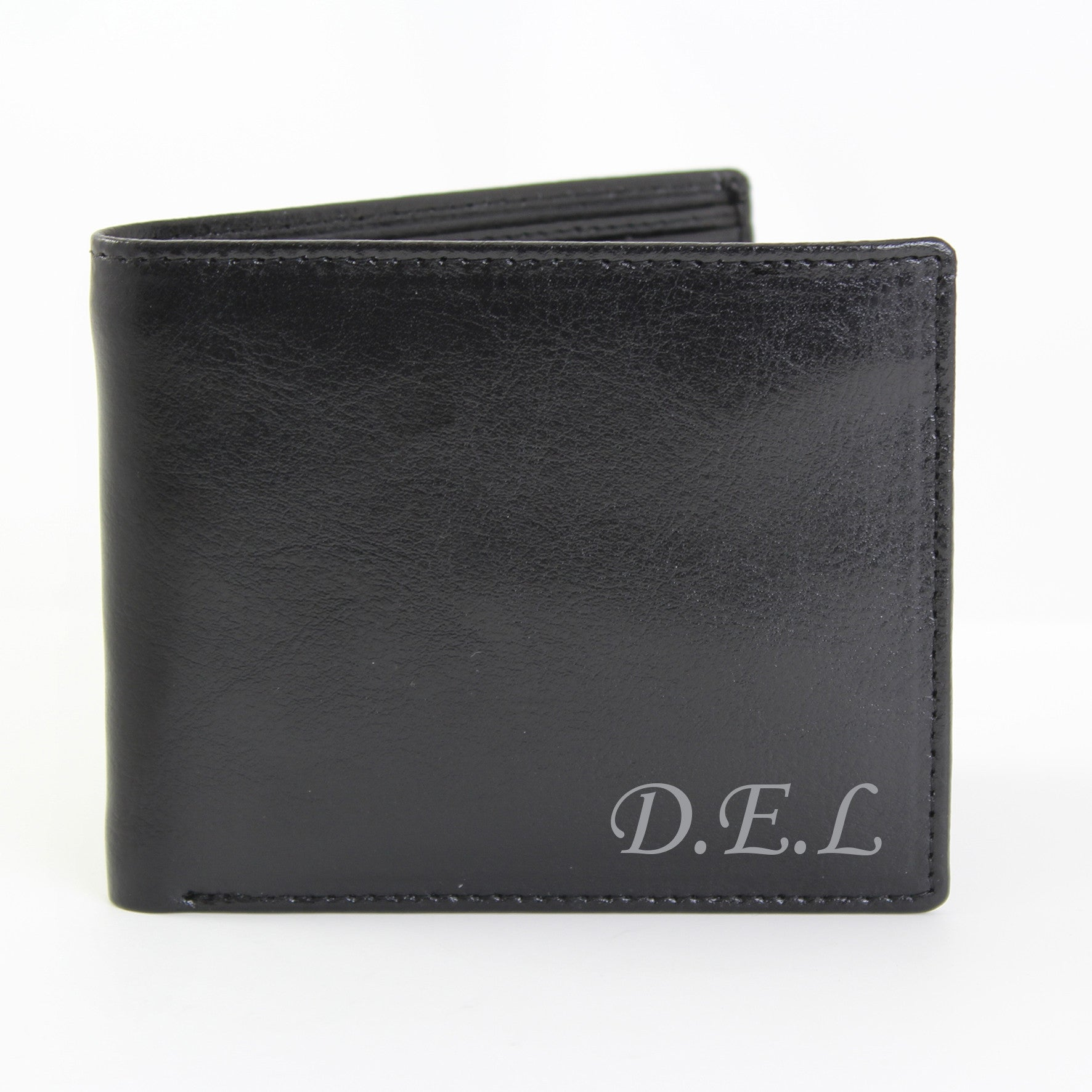Personalised Leather Wallet with Script Font - Personalised Gift Solutions - 1
