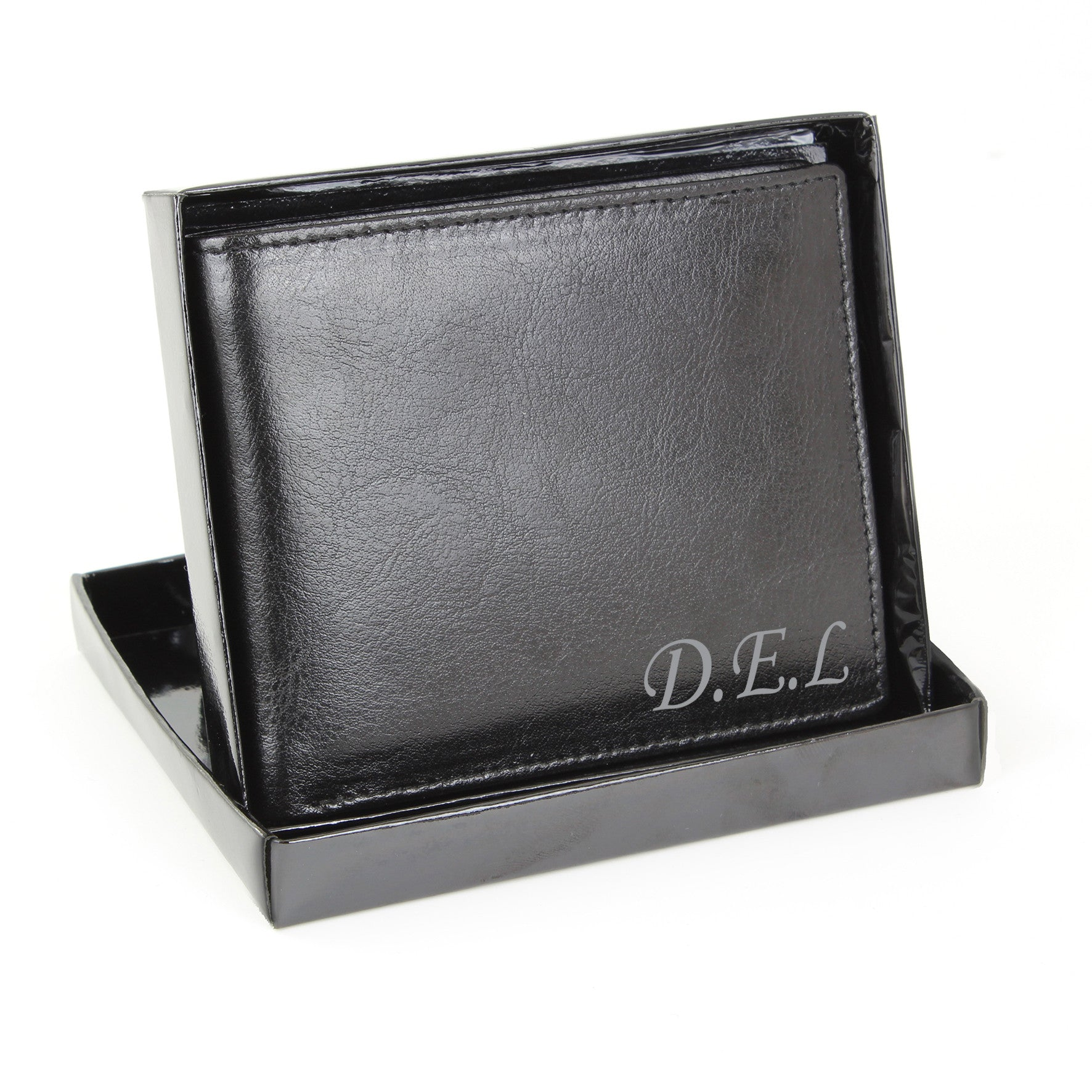 Personalised Leather Wallet with Script Font - Personalised Gift Solutions - 2