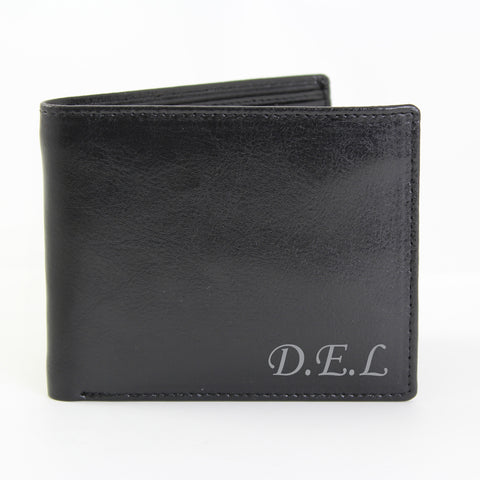 Personalised Leather Wallet with Script Font