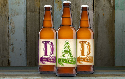 Personalised Beer 3 pack D-A-D Set label - Personalised Gift Solutions - 1