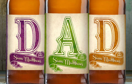 Personalised Beer 3 pack D-A-D Set label - Personalised Gift Solutions - 2
