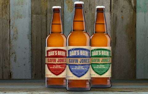 Personalised Beer 3 pack Dad's Beer Set label