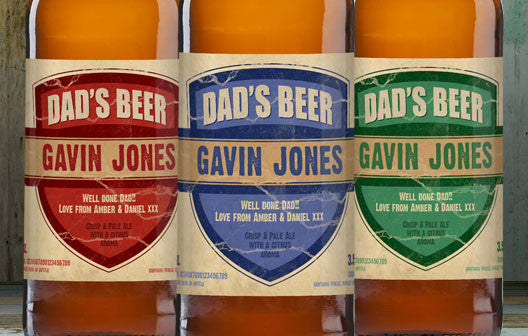 Personalised Beer 3 pack Dad's Beer Set label - Personalised Gift Solutions - 2