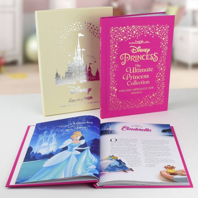 "The PGB Exclusive ""PRINCESS"" Gift Set, Personalised Disney Princess Ultimate Collection Book & Framed Pink Fairy print"