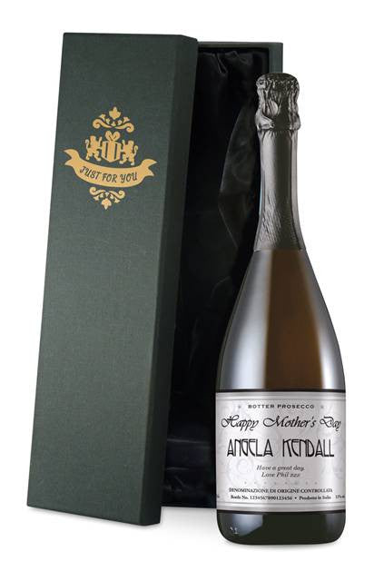 Personalised Mother's Day Prosecco Elegant Label