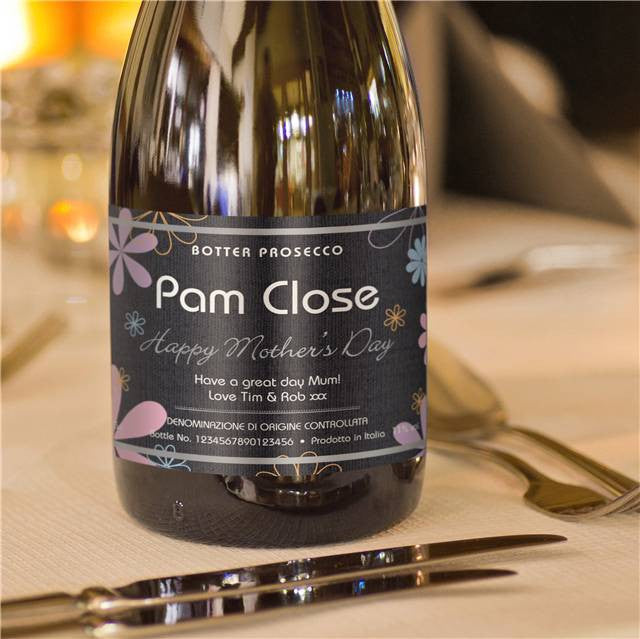 Personalised Mother's Day Prosecco Flowers Label - Personalised Gift Solutions - 4