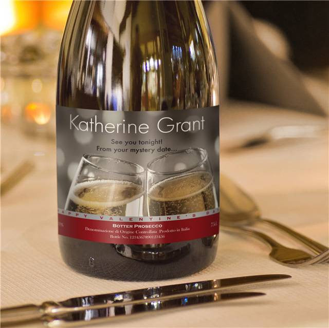 Personalised Valentine's Prosecco with Flutes Label - Personalised Gift Solutions - 4