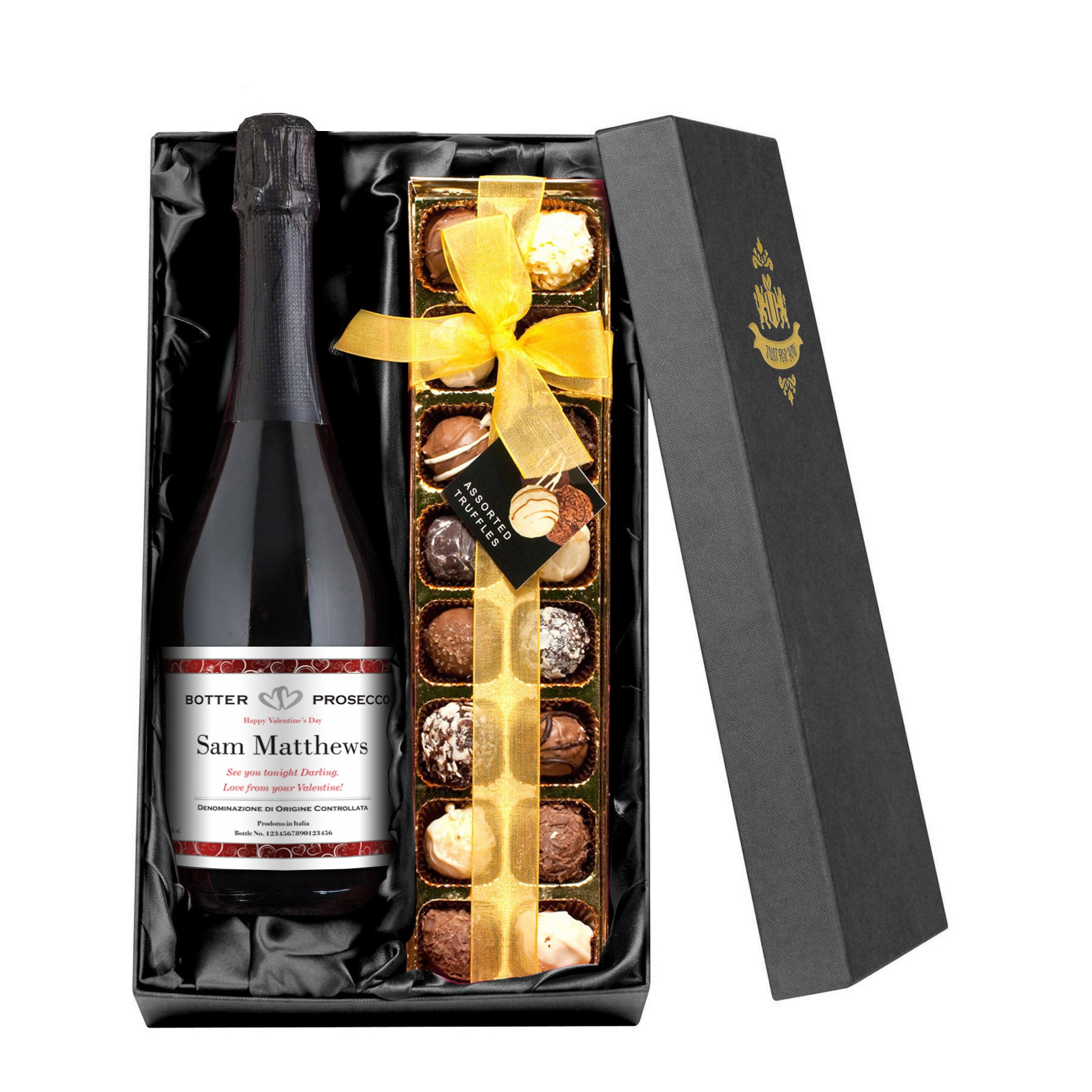 Valentine's Prosecco & Luxury Chocolate Truffles