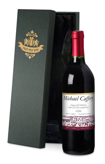 Personalised French Vin du France Red Wine