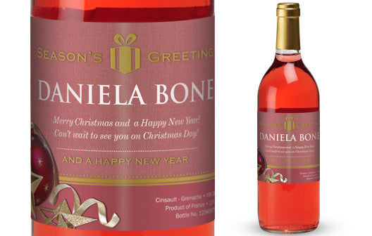 Personalised Christmas French Vin du France Rosé Wine - Personalised Gift Solutions - 1