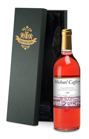 Personalised French Vin du France Rosé Wine