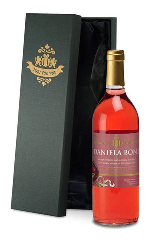 Personalised Christmas French Vin du France Rosé Wine