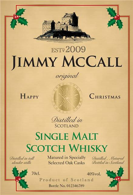 Personalised Christmas Single Malt Scotch Whisky - Personalised Gift Solutions - 2