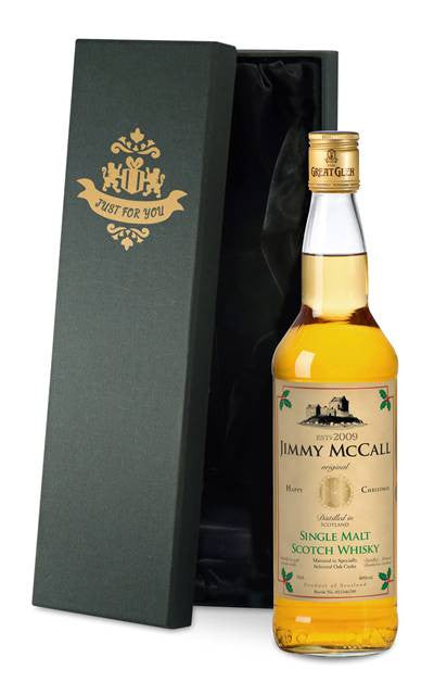 Personalised Christmas Single Malt Scotch Whisky