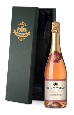 Personalised Sparkling Rose Wine with Any Occasion Label