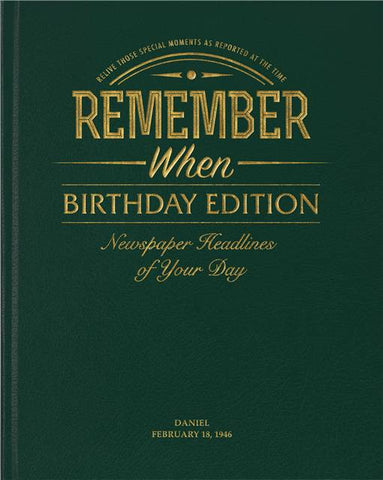 Personalised Birthday Newspaper Book