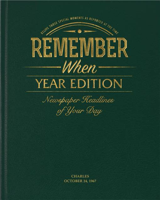 Personalised Year Edition Newspaper Book - Personalised Gift Solutions - 1