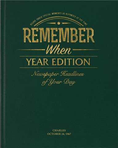 Personalised Year Edition Newspaper Book