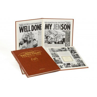 Personalised Formula One Newspaper Book - Personalised Gift Solutions - 3