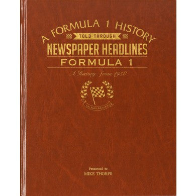 Personalised Formula One Newspaper Book - Personalised Gift Solutions - 1