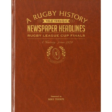Personalised Challenge Cup Rugby Newspaper Book - Personalised Gift Solutions - 1