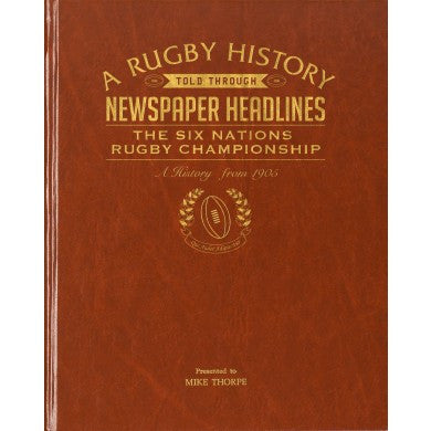 Personalised Rugby Six Nations Newspaper Book - Personalised Gift Solutions - 1