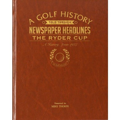 Personalised Ryder Cup Golf Newspaper Book - Personalised Gift Solutions - 1