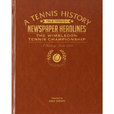 Personalised Wimbledon Tennis Newspaper Book - Personalised Gift Solutions - 1