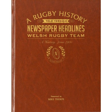 Personalised History of Welsh Rugby Newspaper Book - Personalised Gift Solutions - 1