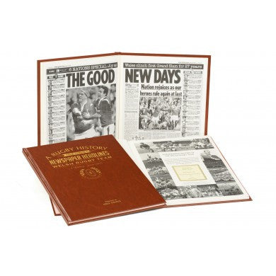 Personalised History of Welsh Rugby Newspaper Book - Personalised Gift Solutions - 3