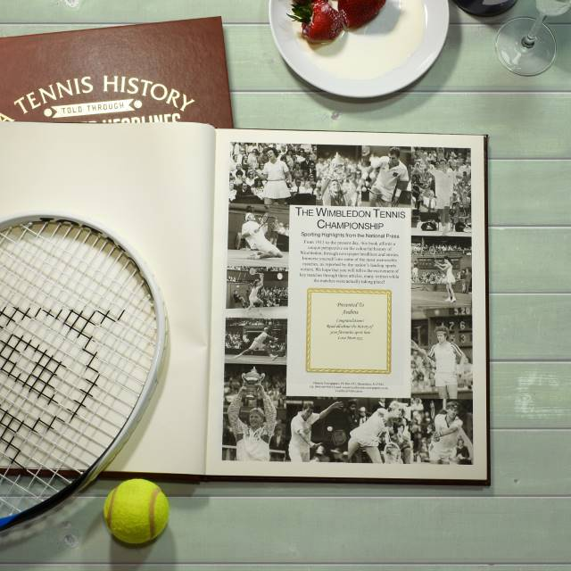 "The ""ACE"" Prosecco, Chocolate Truffles & Wimbledon History Book Gift Set"