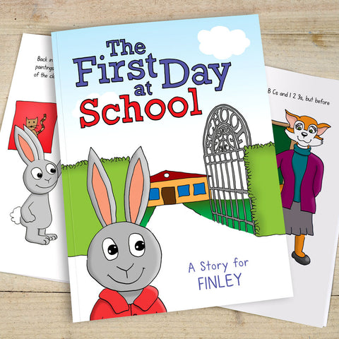 Personalised First Day Of School Book