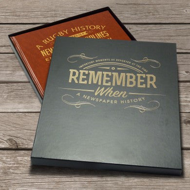 Personalised History of Welsh Rugby Newspaper Book - Personalised Gift Solutions - 6