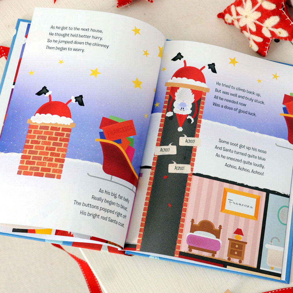 Personalised When Santa Got Stuck Up The Chimney Book - Personalised Gift Solutions - 4