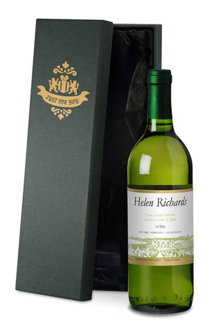 Personalised French Vin du France White Wine