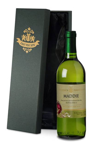 Personalised Christmas French Vin du France White Wine